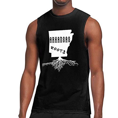 TYUHN Arkansas Grunge Roots Map Ärmellose T-Shirts für Herren Weste Gym Tank Top Shirt Weste