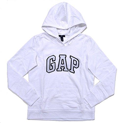 GAP moletom feminino com capuz e logotipo em fleece, Bright White, X-Small