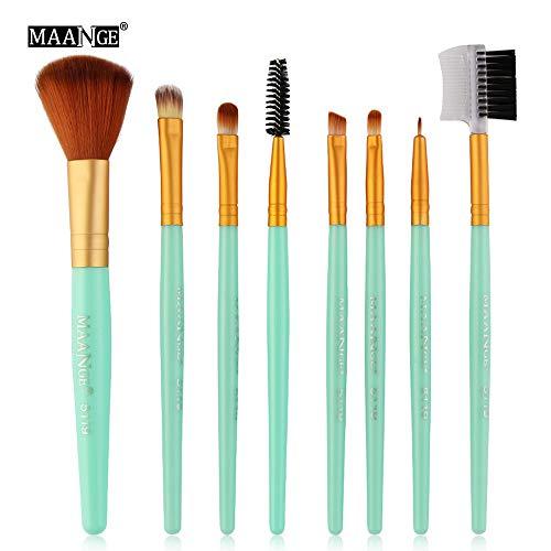 YCQUE 8pcs Kosmetik Make-up Pinsel Set Rouge Lidschatten Pinsel Set Kit Foundation Brush, Eyeliner...