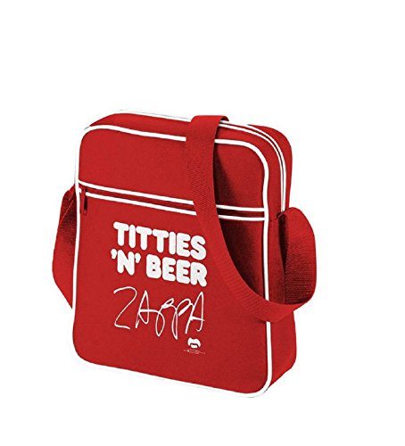 Frank Zappa Titties N Beer offiziell Nue Rot Mini Retro Flight Bag