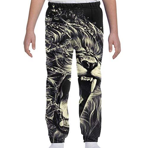 Yesbnow Teenager Jungen Mädchen Jogginghose Jogging Bottom Sport oder Loungewear Hose, Rasta Tiger