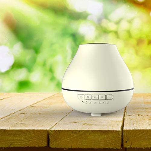 YXLJY Ätherisches Öl diffusoren Mit Bluetooth-Lautsprecher, Maserung des holzes Lotus Lampe Desktop Ätherische Öle aromatherapie Aromatherapie luftbefeuchter-B