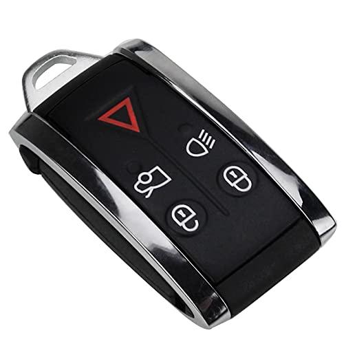 5 Botones Del Coche Remoto Inteligente Sin Llave Caso Shell Uncut Key Blade Para Jaguar XF XK XKR 2007 2008 2009 2010 X-Type S-Type