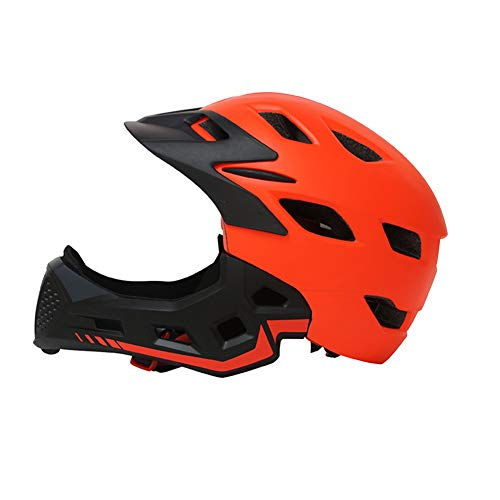 RONSHIN Vollbespannter Kinderhelm Laufrad Kinder Integralhelm Orange