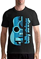 Billy Strings T Shirt Men's Cotton Short Sleeve T Shirt Fashion Round Neck Tees Black