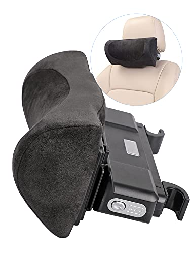 Canler Car Neck Pillow, Auto Seat Adjustable Headrest for Driver Seat, Cervical Support Accessory, Head Rest Pillows for Neck Pain [Memory Foam] -Black