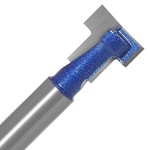 LCuiling-Caña 1 unid 6 mm 1/4 pulgadas CHILL T-Slot Cutter Router Bit T Rloting Fresing Cutter for la herramienta de carpintería de madera, Accesorios para carpintería ( Cutting Edge Length : 6X11 )