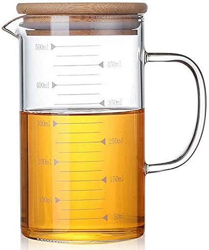 DayCount Max 86% OFF Glass Beaker with Handle Dealing full price reduction and Lid w Measuring Cup