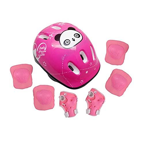 Conjuntos de protectores de patinaje de rodillos, bicicletas para niños Rodillo de seguridad para bicicletas Patinaje de patinaje 7pcs Set de casco Rodilla almohadillas almohadillas Cojines de muñeca
