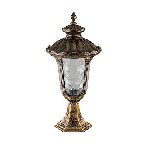 Utanför bronspostljus utomhus staket pelare lampa IP65 Vattentät väggkolonn lyktor, gjuten aluminium glas gårdsplan hem port balkong landskap ljus