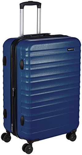 AmazonBasics Hardside Spinner, Carry-On, Expandable Suitcase Luggage with Wheels, 26 Inch, Navy Blue