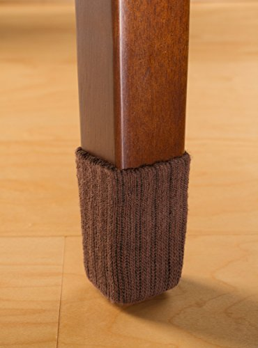 NancyProtectz Small/Brown, Patented with Rubberized Grips/Chair Leg Hardwood Floor Protectors. The Original Furniture Sock