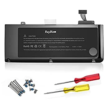 RayHom A1278 A1322 Battery - High Capacity Replacement Battery A1322 A1278 for Apple MacBook Pro 13 inch [2009 2010 2011 2012 Version] 661-5229 661-5557 020-6547-A 020-6765-A [10.95V/72Wh]