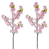 AIVORIUY 4pcs Ramas de Flores de Cerezo Artificiales, Ramo con Flor de Melocotón Artificial Decoracion Arbusto Arreglos Florales para Boda Fiesta Hogar Jarron Mesa Balcon Terraza Jardinera Casa