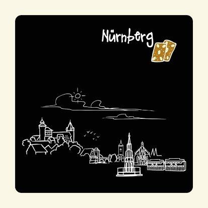 die stadtmeister Untersetzer Skyline Nürnberg (schwarz) - als Geschenk für Nürnberger & Fans der Frankenmetropole oder als Nürnberg Souvenir