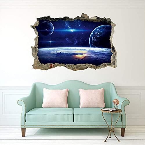 Pegatinas De Pared Creativas De La Galaxia Del Universo 3D Para Techo, Techo, Ventana, Mural, Pegatina Impermeable Para Suelo, 45X60Cm