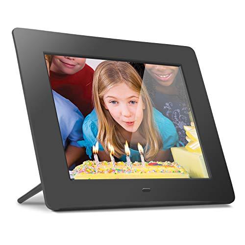 "Aluratek 8"" LCD Digital Photo Frame w/4GB Built-In Mem & USB SD/SDHC Support (ADMPF108F) , Black"