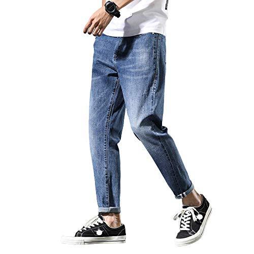 Pantalones de Hombre Jeans Verano Ultrafino Moda Herramientas Sueltas Japonés Pies pequeños Pantalones Casuales Harlan de Gran tamaño