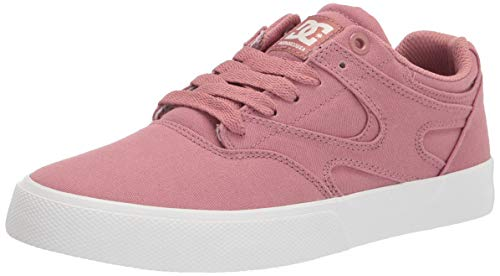 DC womens Kalis Vulc Skate Shoe, Blush, 9 US