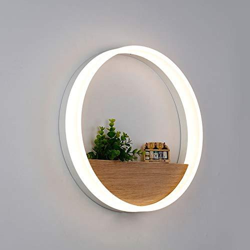 5151BuyWorld, lamp, wandlamp, LED-lamp, hoofdverlichting, modern thuis, acryl, decoratie, wandlamp voor nachts, slaapkamer, eetkamer, toilet, met peertjes, diameter 20 cm en diameter 20 cm