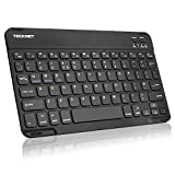 TECKNET Bluetooth Ultra-Slim Wireless Keyboard with Built-in Li-polymer Rechargeable Battery for All iOS
