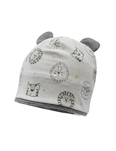 maximo Baby-Jungen Jerseymütze Beanie-Mütze, silbermeliert-schwarz-Tiger, 47