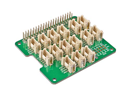 Seeed Studio Grove Base Hat Support Raspberry 2/3 B/B+ Zero Build-in MCU STM32 12-bit 8-Channel ADC with Analog/PWM/Digital/Analog/I2C/UART/SWD Grove Port 3.3V