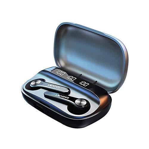 QT81 TWS Wireless BT Cuffie Cuffie semi-in-ear sportive Auricolari impermeabili resistenti al sudore con schermo digitale nero