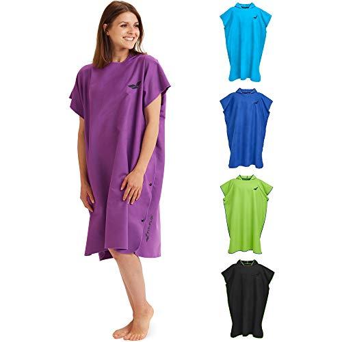 Fit-Flip Umziehhilfe, Surf Poncho – Badeumhang, Umkleidehilfe Damen, Mobile Umkleide, Umkleide Poncho – Größe M, lila