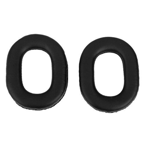 TOOGOO(R) Cubierta cojines de repuesto rodamiento auricular para Panasonic RP-HTX7 Negro