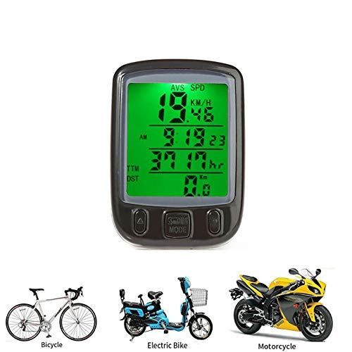 Nicoone LCD ordenador odómetro velocidad velocímetro bicicleta bicicleta ciclismo impermeable medidor bicicleta