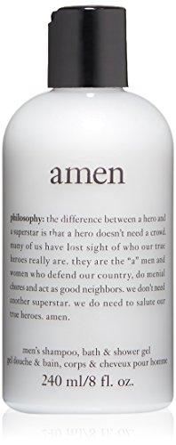 philosophy for men Amen Men's Shower Gel, 8 Fl Oz