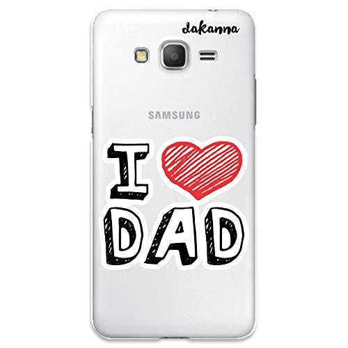 dakanna Funda para Samsung Galaxy Grand Prime | con Frase Te Quiero Papa | Carcasa de Gel Silicona Flexible | Fondo Transparente