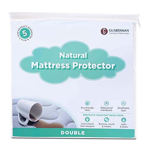 Guardsman Natural Waterproof Mattress Protector Double Bed Breatheable...