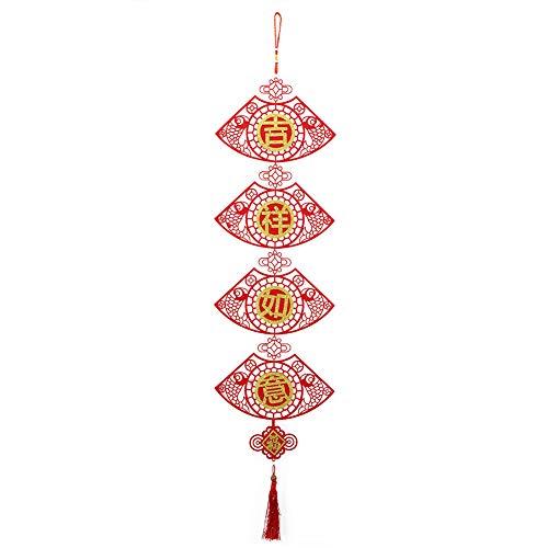 Couplets à suspendre pour le Nouvel An chinois - Décoration de la maison - Couleur rouge