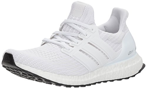 adidas womens Ultraboost Road Running Shoe, White/White/White, 9.5 US