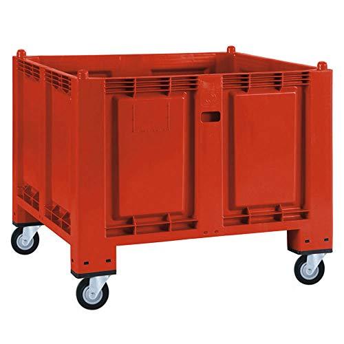 Palettenbox mit 4 Lenkrollen, LxBxH...