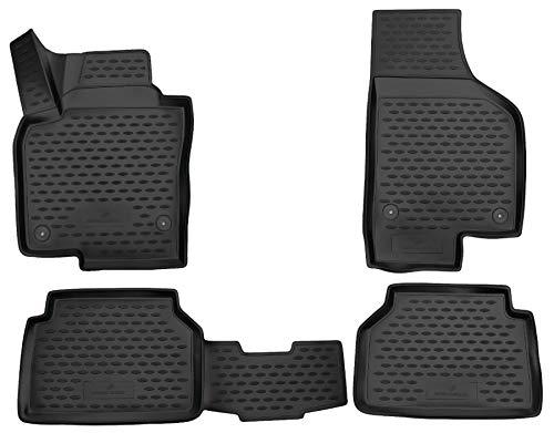 Walser Alfombrillas de Goma a Medida XTR compatibles con VW Tiguan I (5N) año 2007-2018, Alfombrilla Coche, Protector de Suelo Coche