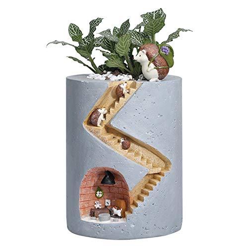 Belle Flowerpot, plantes Creative Pots Pinceau Pots de fleurs Jardinière for Sedum Succulent Plantes Bureau Jardin Chambre Pot Décor, Fée conception, Container bricolage, porte-stylo, cadeau- doux hér