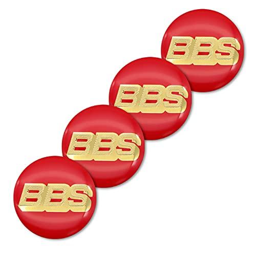 Accesorios de Coche 4 Uds 56mm BBS Logo 3D Aluminio Rueda Central hub Pegatina para BBS RM RZ RG RS decoración de Estilo de Coche