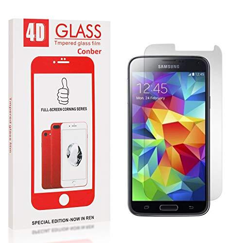 Conber [4 Stück] Displayschutzfolie kompatibel mit Samsung Galaxy S5, Panzerglas Schutzfolie für Samsung Galaxy S5 [9H Härte][Hüllenfreundlich]