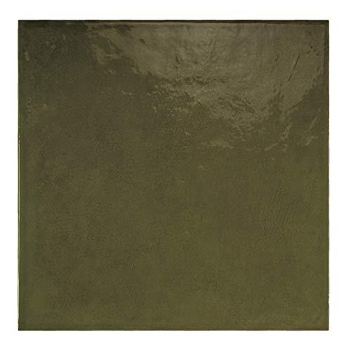 Nais Baldosas cerámicas para paredes Colección Habitat (20x20 cm) - Caja de 1 m2 (25 pzas), Olive