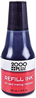 (3 Pack Value Bundle) COS032962 2000 PLUS Self-Inking Refill Ink, Black, .9 oz Bottle