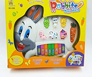 Brunte Deal Stylish Musical Piano for Kids with 3 Modes Animal Sounds, Flashing Lights & Wonderful Music