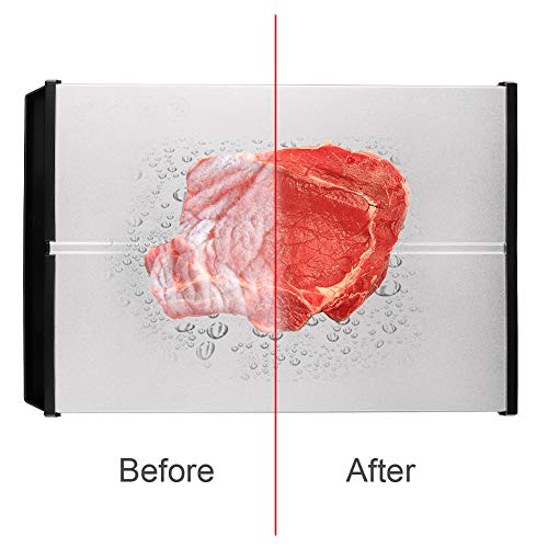 """Rapid Defrosting Tray Natural Thawing plate - Eco Friendly Defrosting board with Thickness 0.2"""" and Stable Framework for Frozen Meat, Fish, Vegetables, No Heating, BPA Free"""
