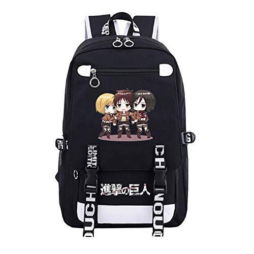 A gavvzw Mochila De Anime Cosplay Bookbag College Daypack para Computadora Portátil