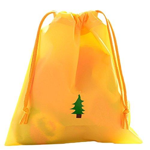 Kentop 2pezzi morral impermeabile, borsa di Drawstring zaino da viaggio, colore: giallo, cod. 1123V813NWS