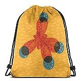 Yuanmeiju Just An Orange Methane Molecule Organic Chemistry Shoulder Bolsa con cordón Backpack String Bags School Rucksack Gym Sport Bag Lightweight