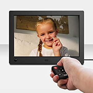 NIX 8 Zoll Digitaler Bilderrahmen. Zeigt Fotos und Videos gemischt an, IPS-Display, Automatische Bilderdrehung, Energiesparender Bewegungssensor, Uhr/Kalender, Fernbedienung, Model: Advance