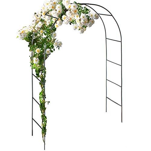 Anaterra Rosenbogen, Rankhilfe für Pflanzen, Rankgitter, Pergola, Spalier, Torbogen aus Metall 240 x 140 x 35 cm, 1/2er Set (1 Stück)